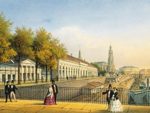 Historical view of Bruehl's Terrace