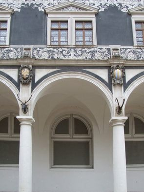 Façade detail in the Dresden Stable Yard